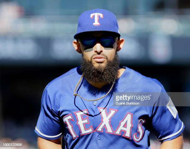 Rougned Odor of the Texas Rangers during a game against the Detroit Tigers at Comerica Park on July 7 2018 in Detroit Michigan