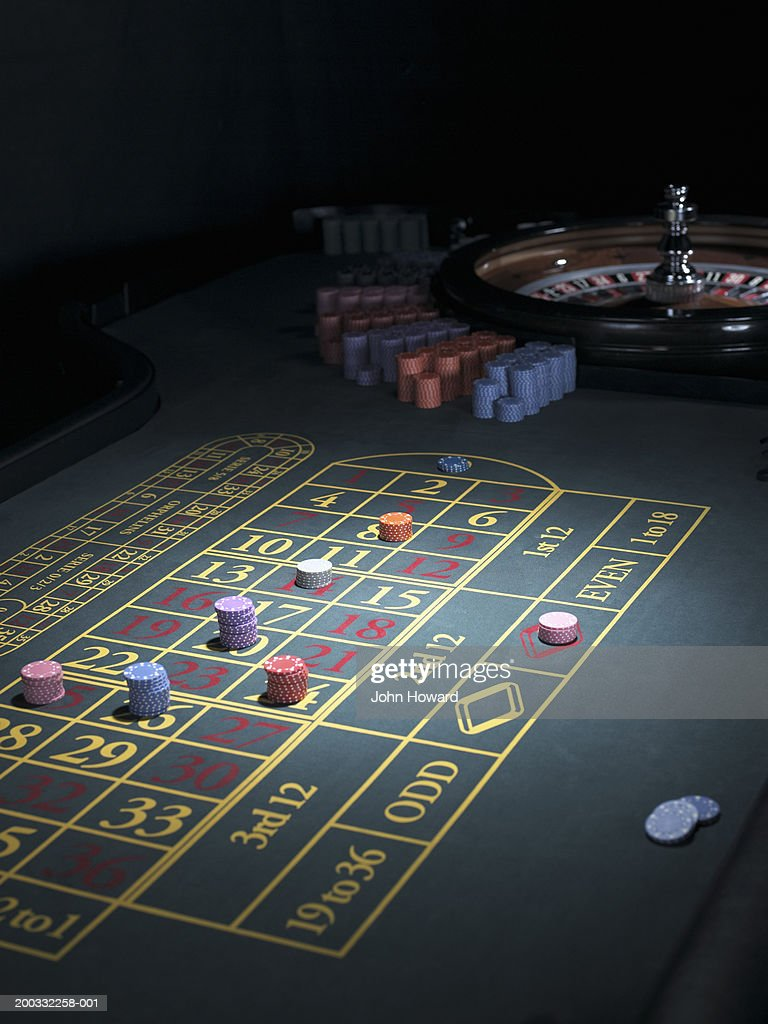 Roulette Betting Table Bets Placed On Some Numbers High-Res Stock Photo -  Getty Images