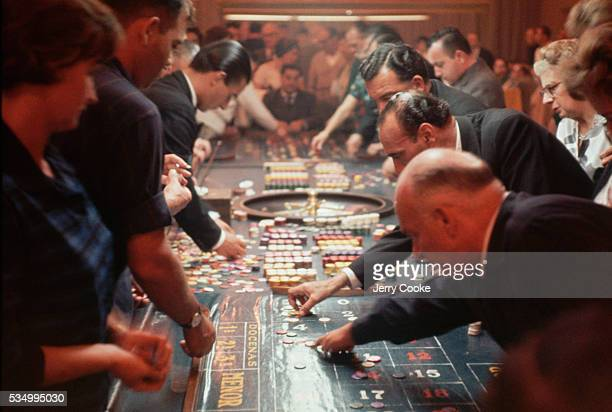 Roulette Gamblers at a Casino