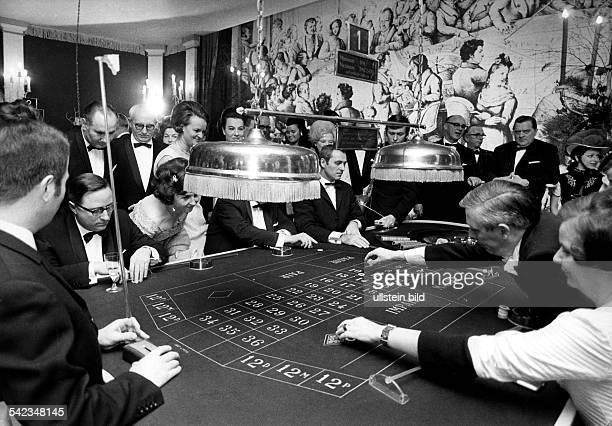 Roulette in der Spielbank in BadenBaden1969