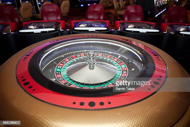 A roulette machine in the main hall of Genting's new Resorts World New York casino at Aqueduct Race Track in Jamaica section of Queens in New York on...
