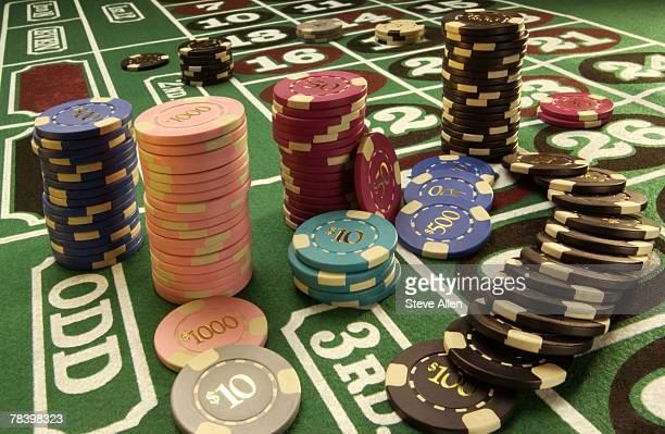 roulette - winnings stock photos and pictures