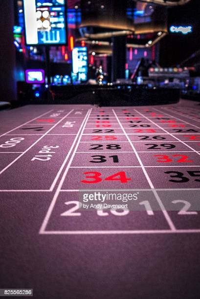 roulette table 2 - gambling table stock pictures, royalty-free photos & images
