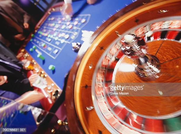 roulette table in casino, close-up - roulette stock pictures, royalty-free photos & images