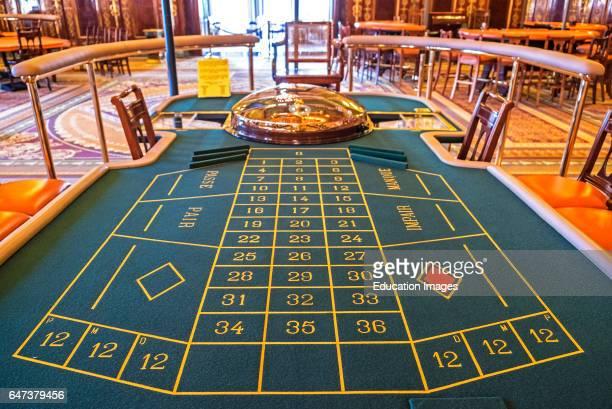 A Roulette Table Inside Monte Carlo Casino Monaco