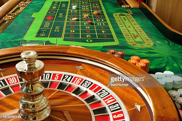 Roulette table of a casino