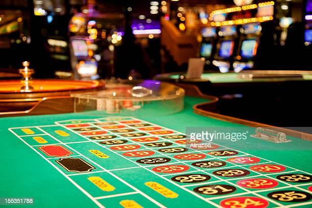 roulette table - casino stock pictures, royalty-free photos & images