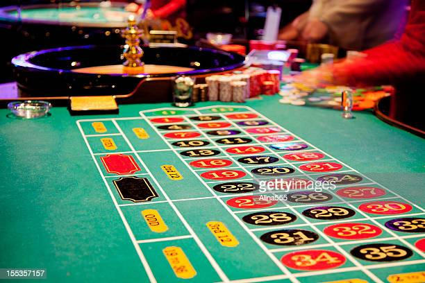 roulette table - roulette stock pictures, royalty-free photos & images