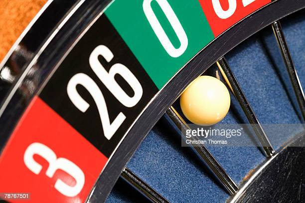 Roulette wheel close up