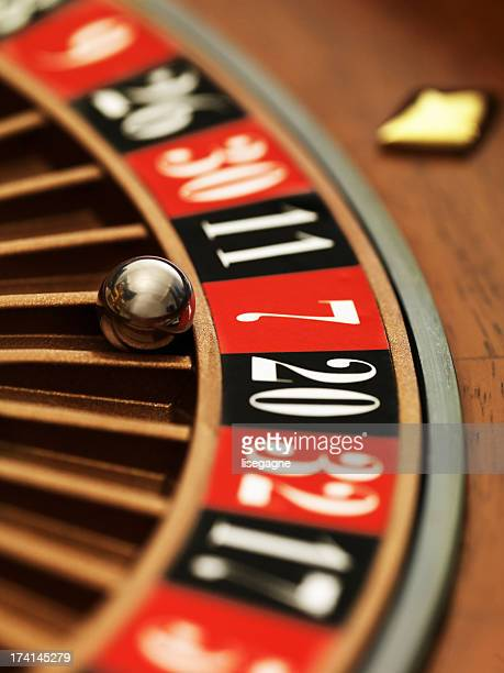 roulette wheel close-up - roulette stock pictures, royalty-free photos & images