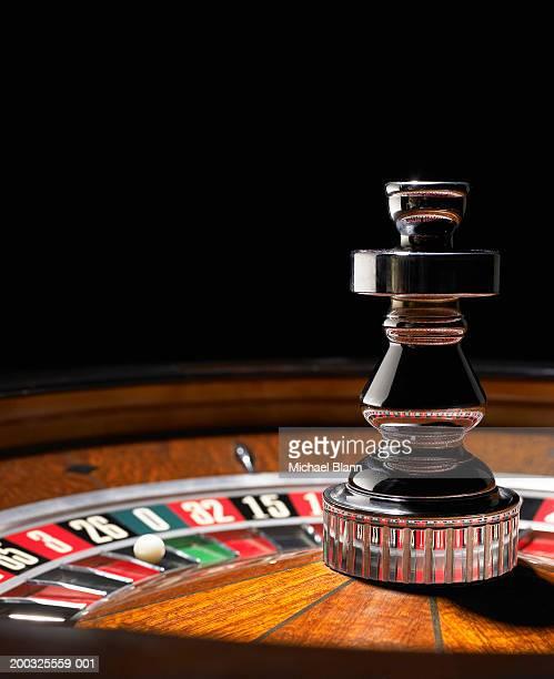 Roulette wheel, close-up