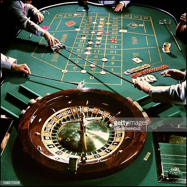 Roulette wheel in Monaco on October 01 2000