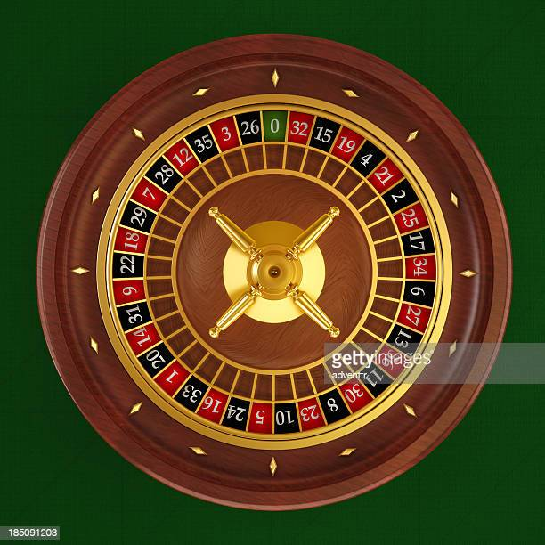 Roulette wheel (Top-Ansicht