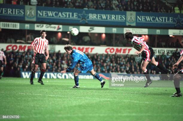 Round 2 - 1st leg UEFA cup match, Newcastle United 3 - 2 Athletic Bilbao, 18th October 1994.