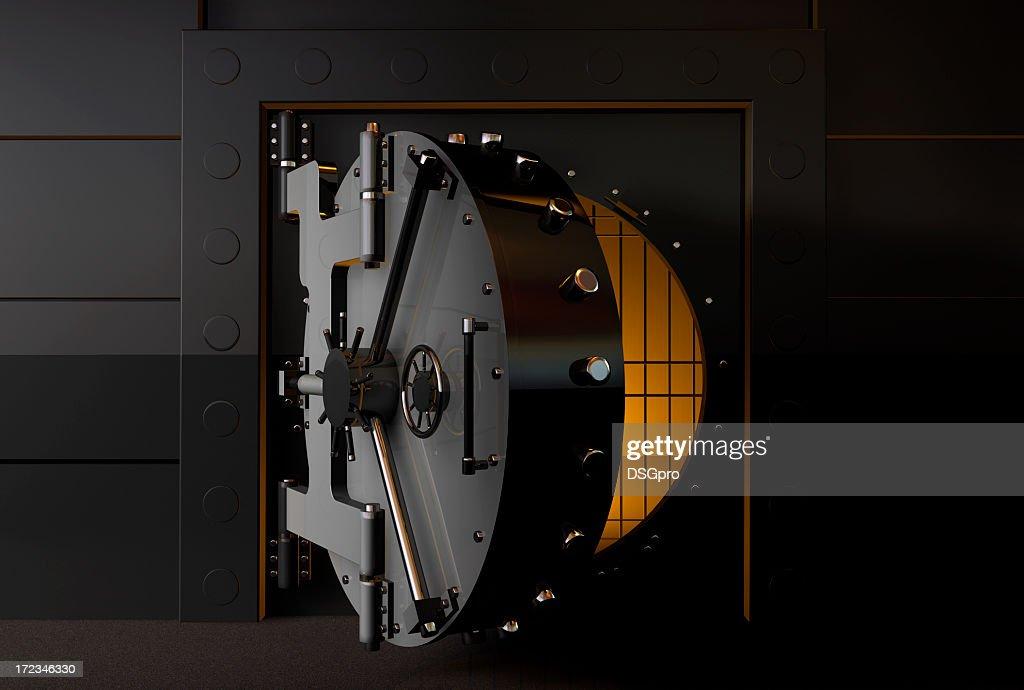 gold vault door. a round bank vault door slightly open gold & Gold Vault Door. A Round Bank Vault Door Slightly Open Gold ...