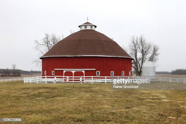 Round Barn in winter
