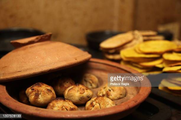 Round breads called BATTI made of wheat flour are on display on February 20 2020 in New Delhi India What did humans eat 5000 years ago in one of the...