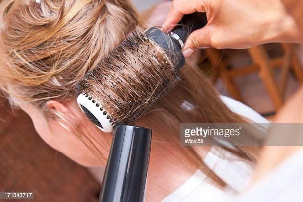 Round Brush Hair Styling