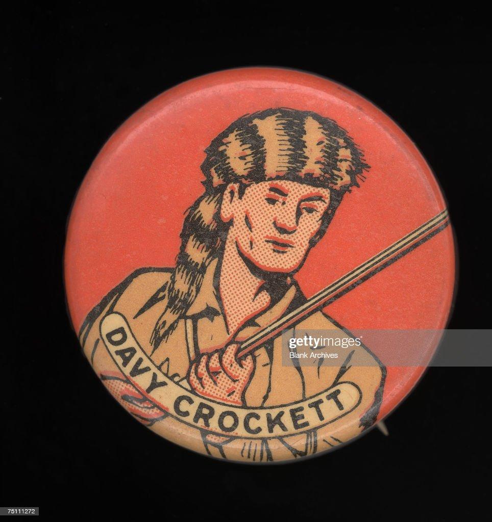 Davy Crockett Button : News Photo