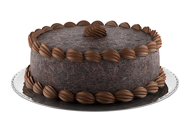 White And Brown Chocolate Cake