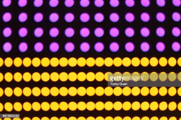Round color led light dot backgrounds.