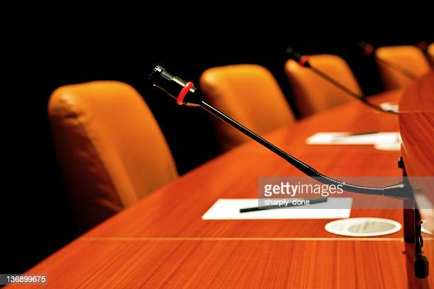 round conference table - summit meeting stock pictures, royalty-free photos & images
