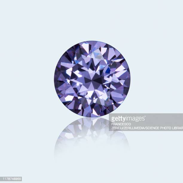 round cut amethyst - amethyst stock pictures, royalty-free photos & images