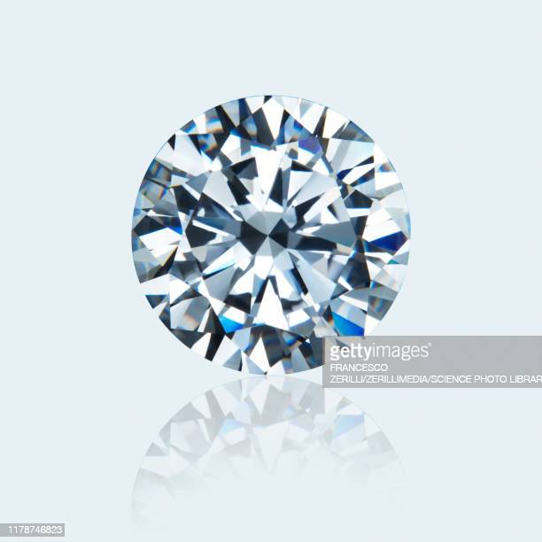 round cut diamond - diamant stockfoto's en -beelden