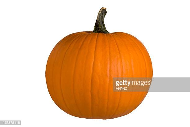 Round Halloween Pumpkin, Perfect – Clipping Path