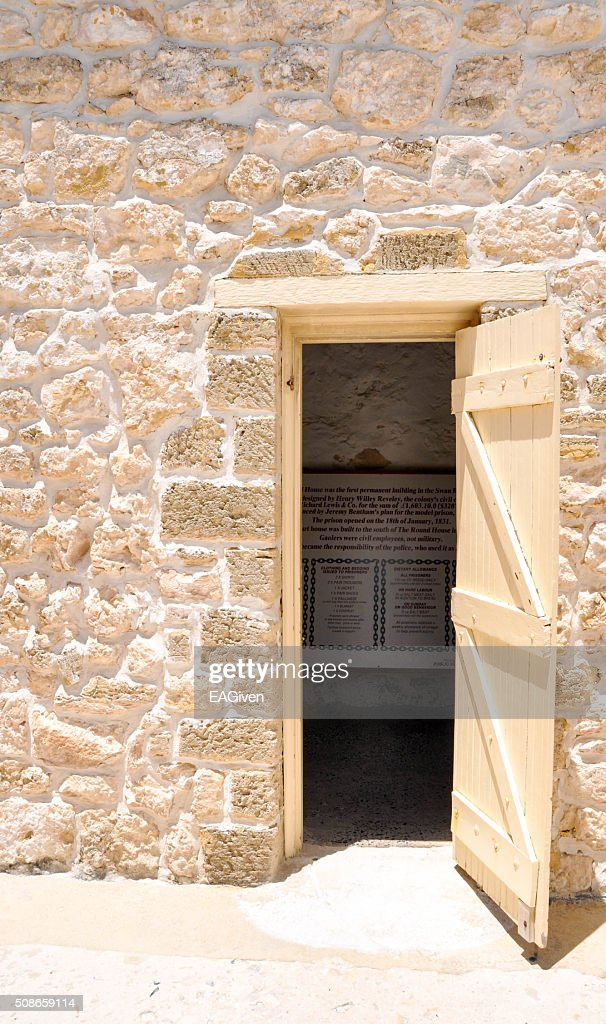 Round House: Door Detail : Stock Photo