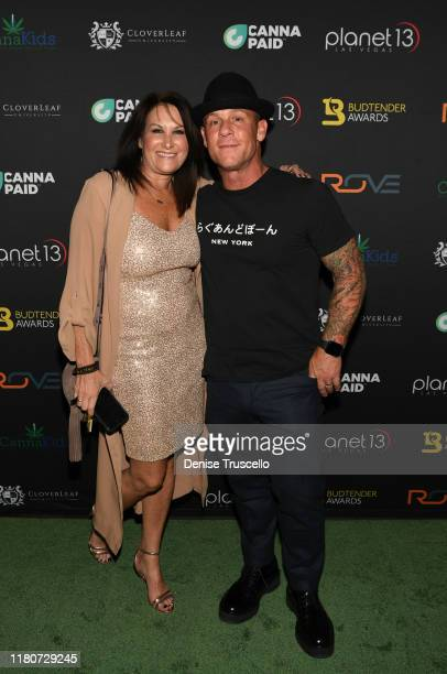 Round Meadow Holdings Director of Operations Julie Porter and CEO of Round Meadow Holdings and Budtender Awards founder Keith Allen arrive at the...