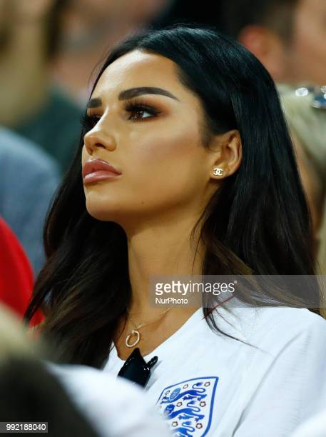 Round of 16 England v Colombia FIFA World Cup Russia 2018 Dele Allis girlfriend Ruby Mae at Spartak Stadium in Moscow Russia on July 3 2018