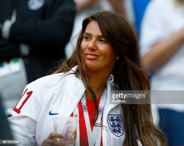 Round of 16 England v Colombia FIFA World Cup Russia 2018 Jamie Vardy wife Rebekah at Spartak Stadium in Moscow Russia on July 3 2018