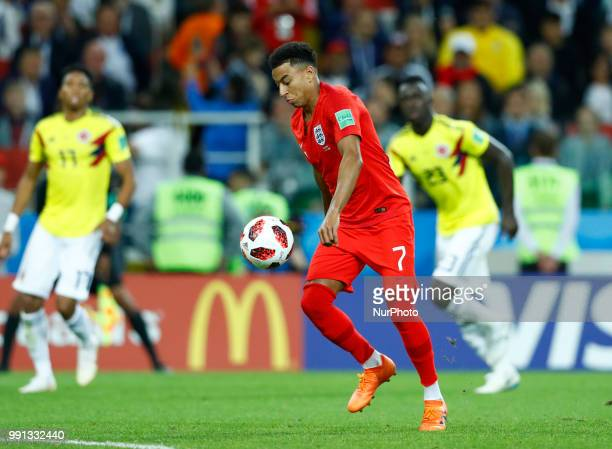 Round of 16 England v Colombia FIFA World Cup Russia 2018 Jesse Lingard at Spartak Stadium in Moscow Russia on July 3 2018