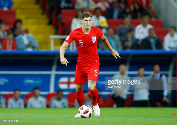 Round of 16 England v Colombia FIFA World Cup Russia 2018 John Stones at Spartak Stadium in Moscow Russia on July 3 2018