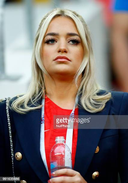 Round of 16 England v Colombia FIFA World Cup Russia 2018 Jordan Pickford's girlfriend Megan Davison at Spartak Stadium in Moscow Russia on July 3...