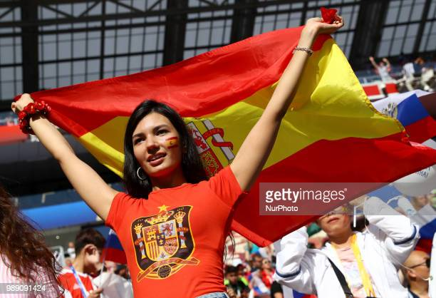 Round of 16 Russia v Spain FIFA World Cup Russia 2018 Spain supporter at Luzhniki Stadium in Moscow Russia on July 1 2018