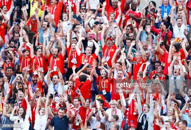Round of 16 Russia v Spain - FIFA World Cup Russia 2018 The ola made by the fans at Luzhniki Stadium in Moscow, Russia on July 1, 2018.