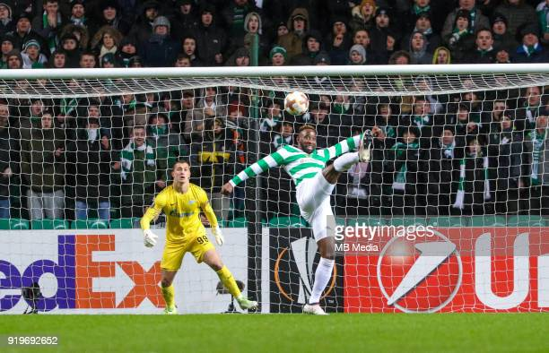Round of 32 match between Celtic and Zenit St Petersburg at the Celtic Park Glasgow United Kingdom Zenit St Petersburg goalkeeper Andrey Lunev and...