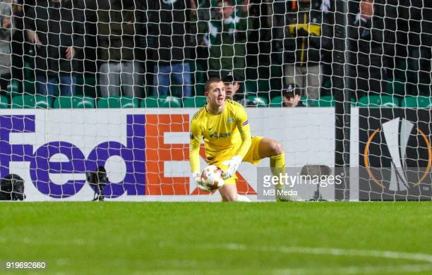 Round of 32 match between Celtic and Zenit St Petersburg at the Celtic Park Glasgow United Kingdom Zenit St Petersburg goalkeeper Andrey Lunev