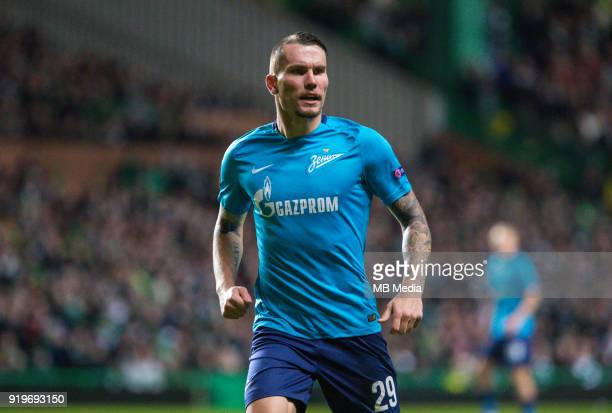 Round of 32 match between Celtic and Zenit St Petersburg at the Celtic Park Glasgow United Kingdom Anton Zaboloty of Zenit St Petersburg