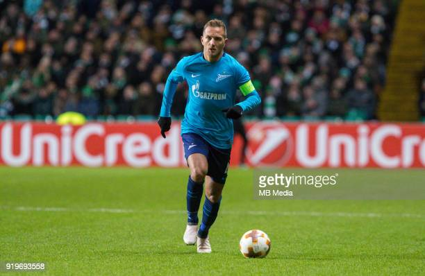 Round of 32 match between Celtic and Zenit St Petersburg at the Celtic Park Glasgow United Kingdom Domenico Criscito of Zenit St Petersburg