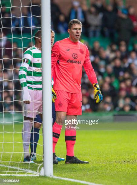 Round of 32 match between Celtic and Zenit St Petersburg at the Celtic Park Glasgow United Kingdom Celtic goalkeeper Dorus de Vries