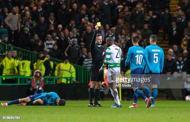 Round of 32 match between Celtic and Zenit St Petersburg at the Celtic Park Glasgow United Kingdom Sebastian Driussi of Zenit St Petersburg Olivier...