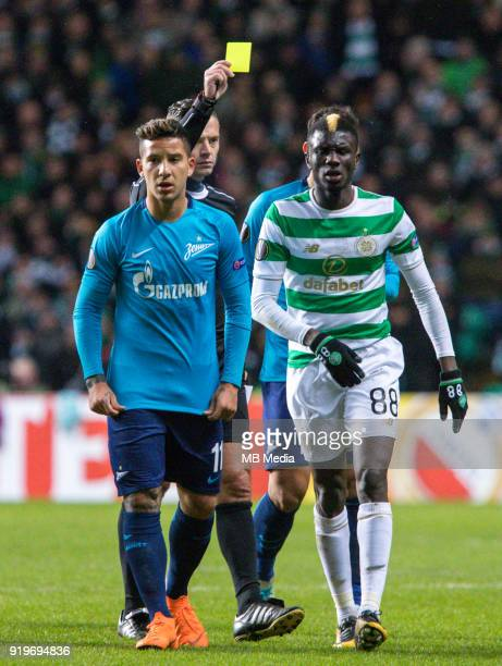 Round of 32 match between Celtic and Zenit St Petersburg at the Celtic Park Glasgow United Kingdom Sebastian Driussi of Zenit St Petersburg and...