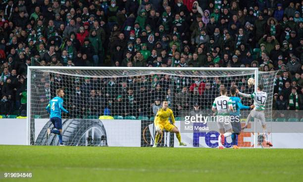 Round of 32 match between Celtic and Zenit St Petersburg at the Celtic Park Glasgow United Kingdom Andrey Lunev goalkeeper of Zenit St Petersburg