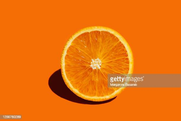 orange fruit round orang slice isolate