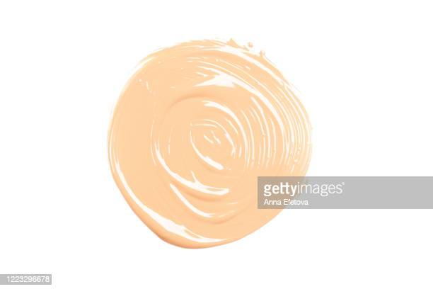 a round smear of the foundation - concealer stock pictures, royalty-free photos & images