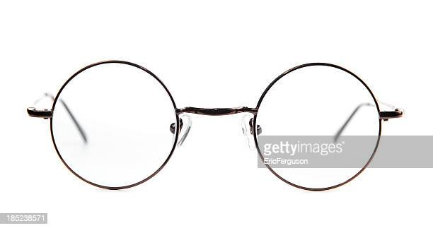 round spectacles. - circle stock pictures, royalty-free photos & images