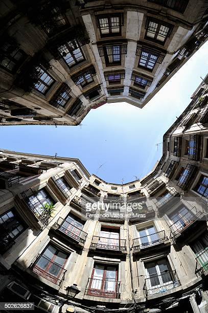 Round square in Calle Milans, Barcelona